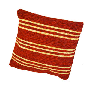 Veranda Red 16-Inch Pillow