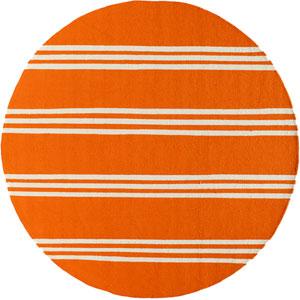 Veranda 16 Tangerine Round: 9 ft. x 9 ft. Rug