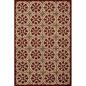 Veranda 30 Red Rectangular: 5 ft. x 8 ft. Rug
