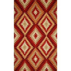 Veranda Multi-Colored Rectangular: 5 Ft. x 8 Ft. Rug Rug