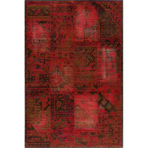 Vintage 3 Raspberry Rectangular: 5 ft. 3 in. x 7 ft. 9 in. Rug