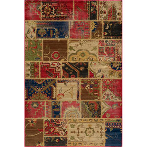 Vintage 4 Multi-Color Rectangular: 5 ft. 3 in. x 7 ft. 9 in. Rug