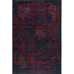 Vintage 5 Raspberry Rectangular: 5 ft. 3 in. x 7 ft. 9 in. Rug