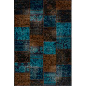 Vintage 13 Indigo Rectangular: 5 ft. 3 in. x 7 ft. 9 in. Rug