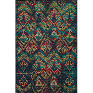 Vintage 14 Blue Rectangular: 5 ft. 3 in. x 7 ft. 9 in. Rug