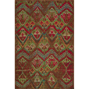 Vintage 14 Raspberry Rectangular: 5 ft. 3 in. x 7 ft. 9 in. Rug