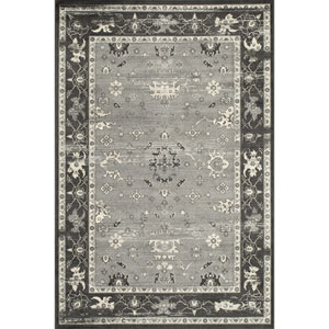 Vogue Charcoal Rectangular: 1 Ft 8 in x 2 Ft 7 in Rug