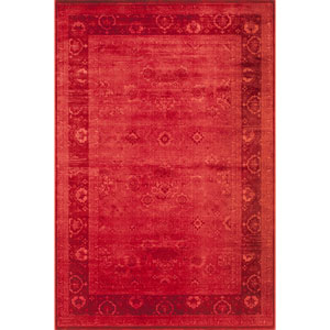 Vogue Red Rectangular: 1 Ft 8 in x 2 Ft 7 in Rug