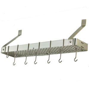 Satin Nickel Wall Mounted Pot Rack