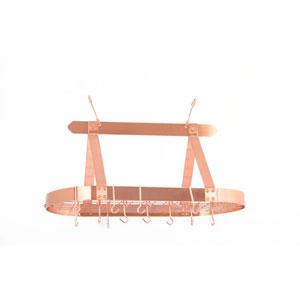 Copper Oval Hanging Pot Rack
