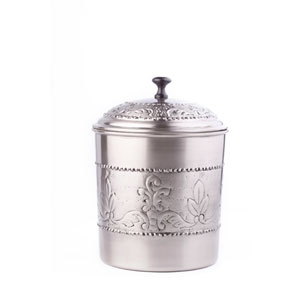Antique Pewter Embossed Victoria Cookie Jar with Fresh Seal® Cover