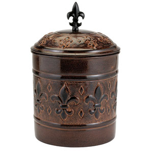 Dark Brown Versailles Cookie Jar with Fresh Seal® Lid