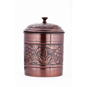 Antique Copper Embossed Heritage Cookie Jar
