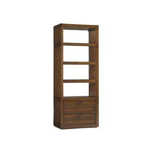 Longboat Key Light Brown Crystal Sands Bookcase
