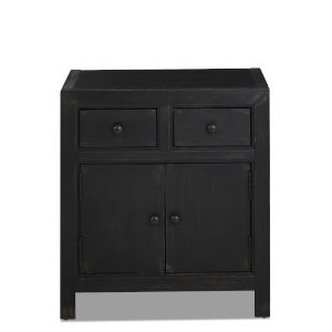 Henning Black 26-Inch Two Drawer Accent Chest