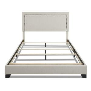 Cooper Beige Upholstery 65-Inch Queen Bed
