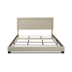 Cooper Beige Upholstery 80-Inch King Bed
