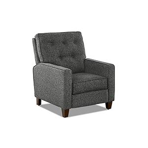 Evan Charcoal Push Back  High Leg Reclining Chair