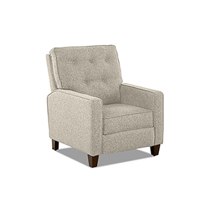 Evan Latte Push Back  High Leg Reclining Chair