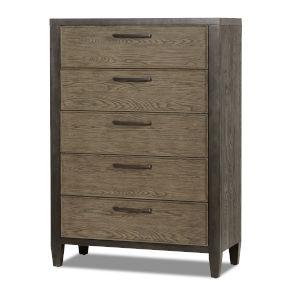 Jaxson Charcoal Poplar Oak and Metal Drawer Chest
