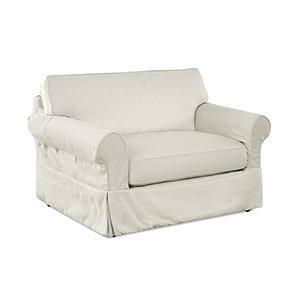 Olivia Cream  Down Blend Slipcovered Chair