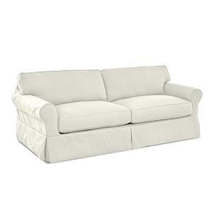 Olivia Cream  Down Blend Slipcovered Sofa