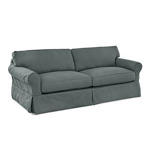 Olivia Lagoon  Down Blend Slipcovered Sofa