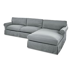 Olivia Spa Blue Down Blend Sofa