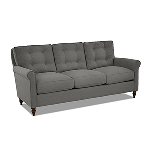 Trent Graphite Down Blend Button Tufted Sofa