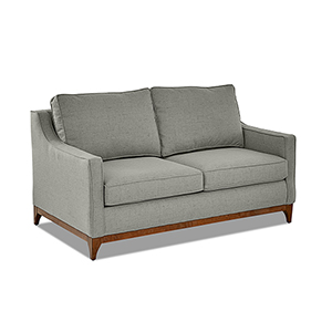 Ansley Ash Wood Base Loveseat