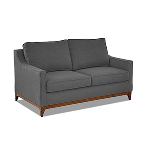 Ansley Flannel Wood Base Loveseat