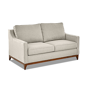 Ansley Hemp Wood Base Loveseat