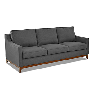 Ansley Flannel Wood Base Sofa