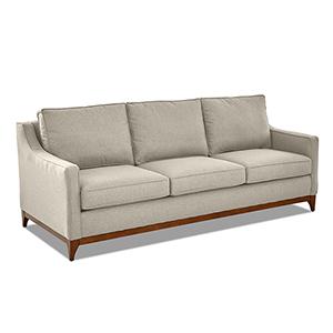 Ansley Hemp Wood Base Sofa