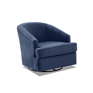 Lamar Ink Swivel Gliding Chair