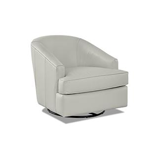 Lamar Cream Swivel Gliding Chair