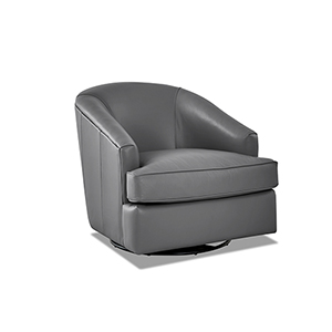 Lamar Grey Swivel Gliding Chair