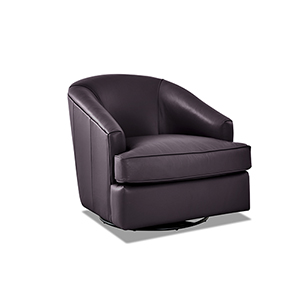 Lamar Purple Swivel Gliding Chair