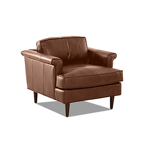 Malcolm Chestnut Leather Down Blend Chair