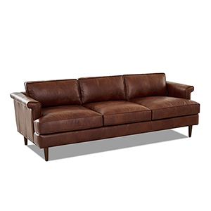 Malcolm Chestnut Leather Down Blend Sofa