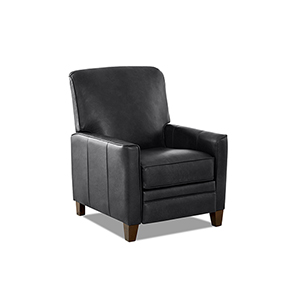 Kenmore Charcoal Push Back High Leg Reclining Chair