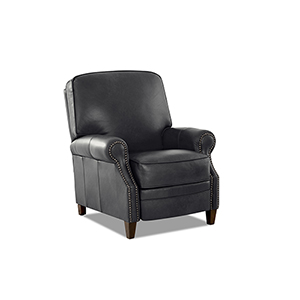 Kelsey Charcoal  Push Back  High Leg Reclining Chair