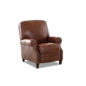 Kelsey Chestnut  Push Back  High Leg Reclining Chair