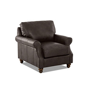 Winston Driftwood Leather Down Blend Chair