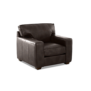 Drake Driftwood Leather Down Blend Chair