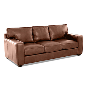 Drake Chestnut Leather Down Blend Sofa