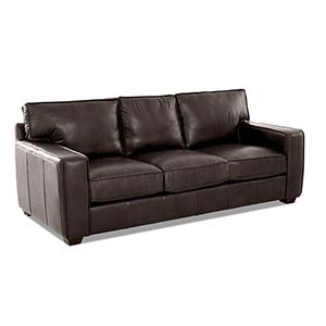 Drake Driftwood Leather Down Blend Sofa