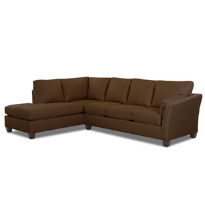Drew Sectional Left Sofa, Right Chaise Microsuede/Charcoal