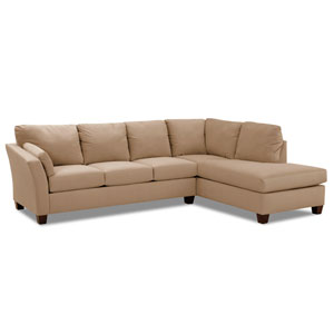 Drew Sectional Left Sofa, Right Chaise Microsuede/Khaki