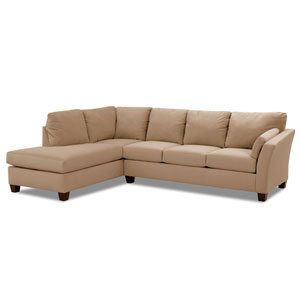 Drew Sectional Left Sofa, Right Chaise Microsuede/Onyx